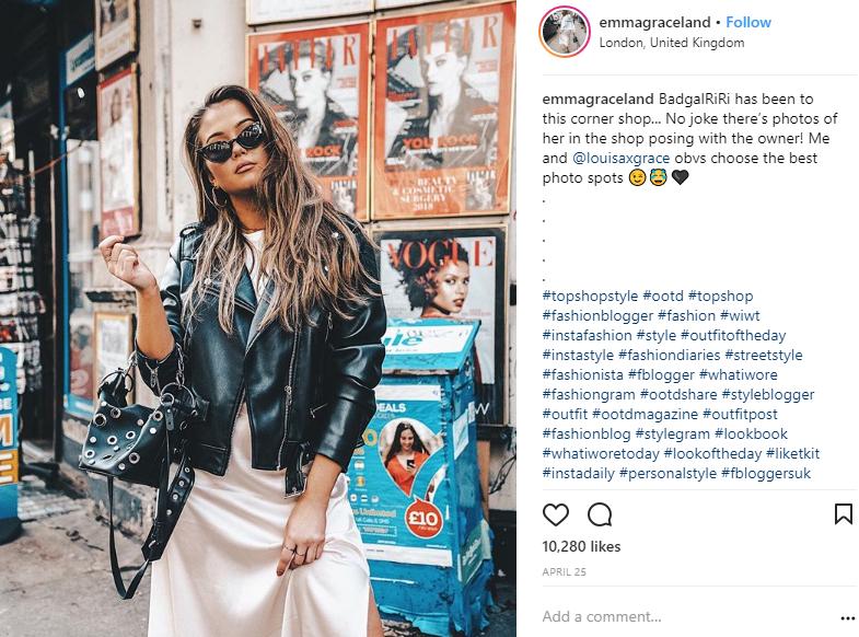 ZINE Influencer Marketing Blog | emma instagram
