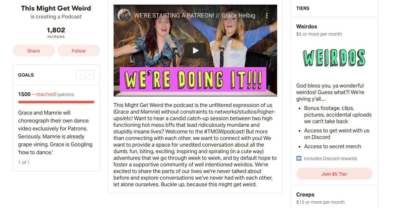 patreon youtube monetization