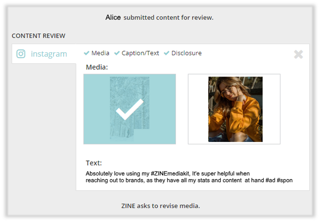 ZINE Influencer Marketing Blog | publishing approved content