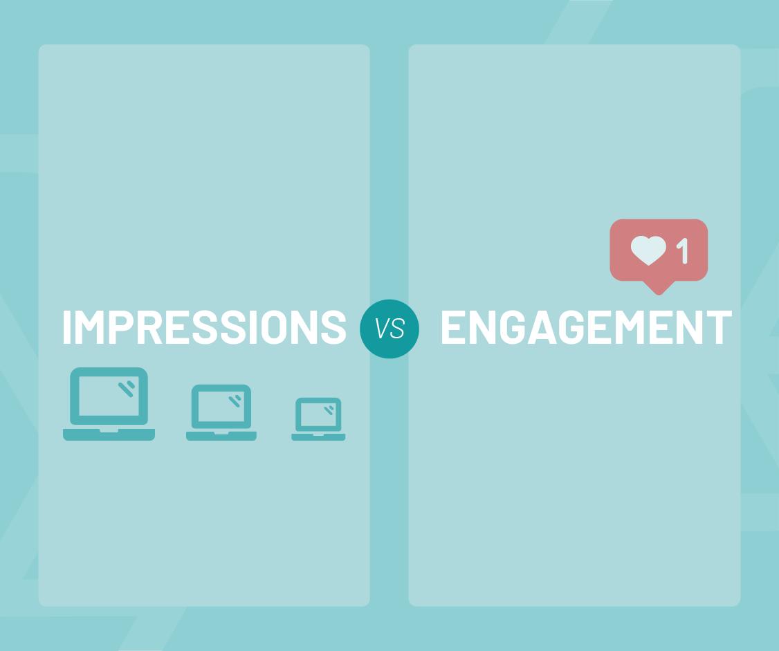 impressions vs engagement